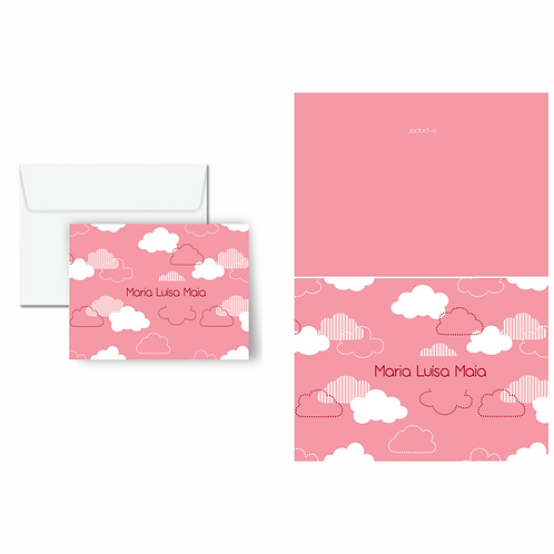 Cartão duplo estampado Algodão doce | 10 unidades