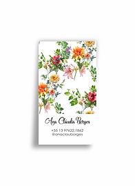 Cartões pessoais. Tropical Garden | 50 unidades