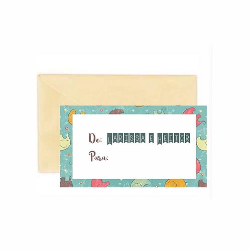 Mini cards de/para Elefante | 24 unidades