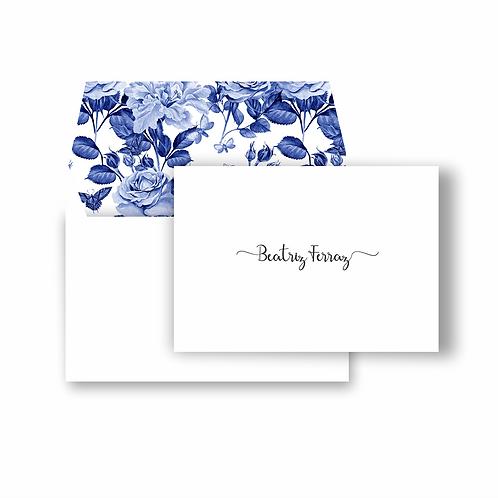 Cartão duplo com envelope estampado | 10 unidades