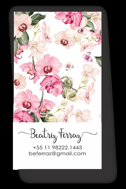 Cartões pessoais Orquídeas   50 unidades