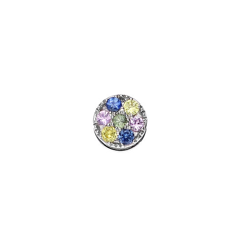 TOUCHSTONE PAVE Multi-Sapphire Cylinder