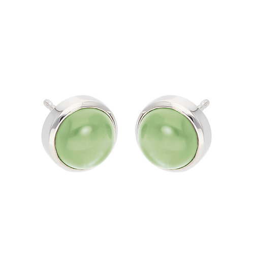 Prehnite Cabochon Earrings