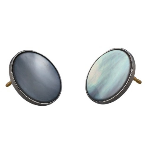 14mm Tahitian Mother-Of-Pearl EAR BUTTONS