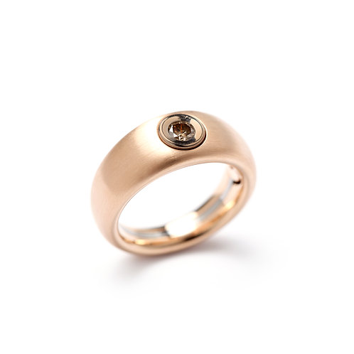 TOUCH Rose Gold and Fancy Diamond Cylinder