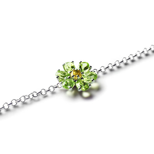 KRISTALL BLÜTE Peridot Bracelet