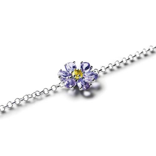 KRISTALL BLÜTE  Iolite Bracelet