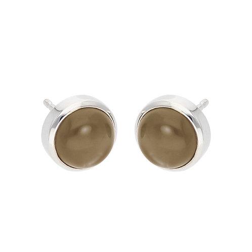 Smoky Quartz Cabochon Earrings