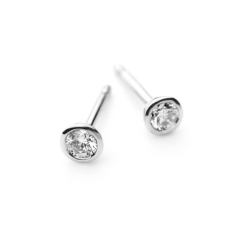 DIAMOND SOLO Earrings White gold