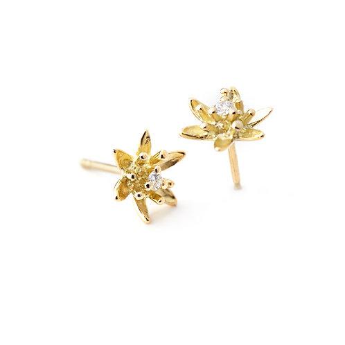DIAMOND FLOWER Lily Earrings