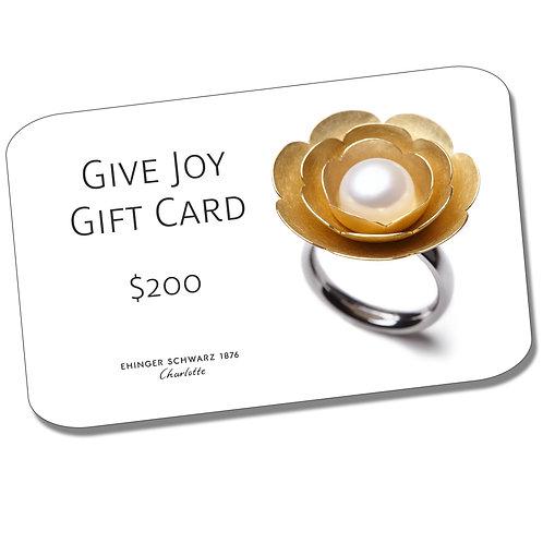 GIVE JOY $200