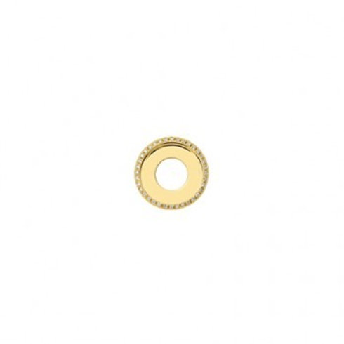 17mm HIGHLIGHTS Gold and Diamond Disc