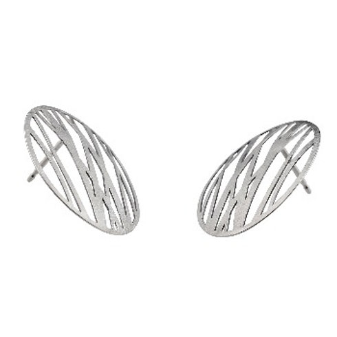 GRASSES White Gold Earrings