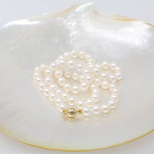 MARGARITE White Akoya Pearl Necklace