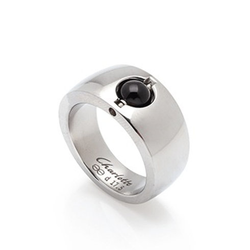 Steel Conical Charlotte Ring