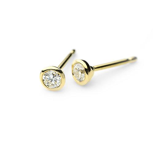 DIAMOND SOLO Earrings Gold