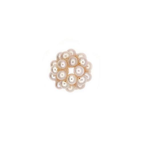 17mm Raspberry Pearl Cluster Pendant