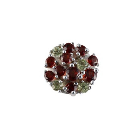 10mm Garnet and Peridot COLOR LIGHTS centerpiece