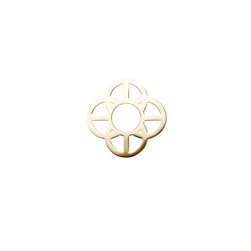 20mm Gold CIRCLES DISC