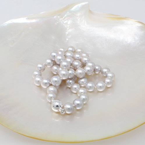 MARGARITE Gray Akoya Pearl Necklace