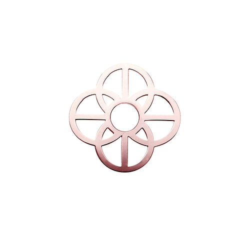 28mm Rose Gold CIRCLES Disc