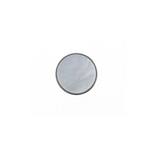 14mm White Pearl Color Button