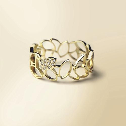 LEAF SKY Gold Ring
