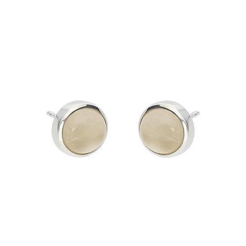 Moonstone Cabochon Earrings