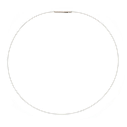 Single Strand White Silicon Necklace