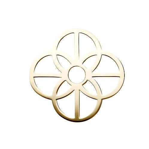 40mm Gold CIRCLES DISC