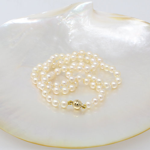 MARGARITE Yellow Akoya Pearl Necklace