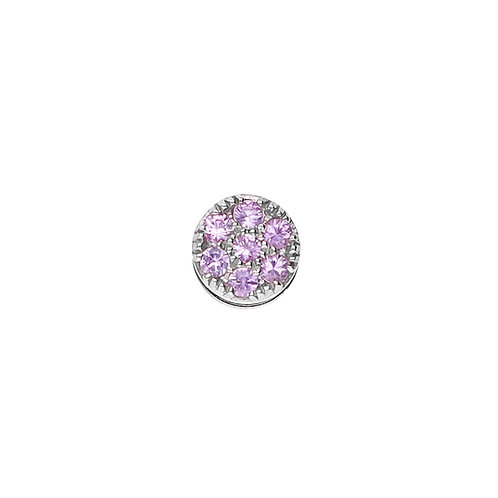 TOUCHSTONE PAVE Pink Sapphire Cylinder