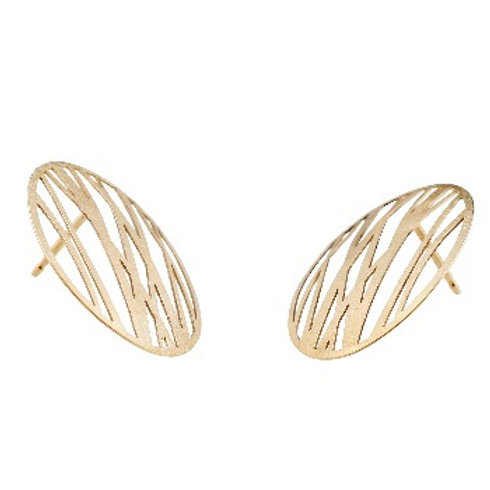 GRASSES Gold Earrings