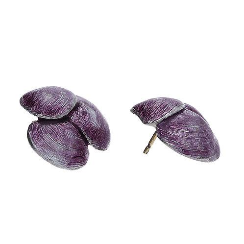 JESTAM Lilac Enamel Earrings