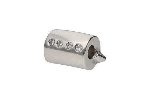 LUNA CLASSIC Silver Scroll with 4 Diamonds