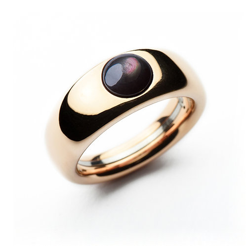 Polished Rose Gold TOUCH Charlotte Ring