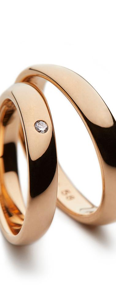 18k Rose Gold - Polished