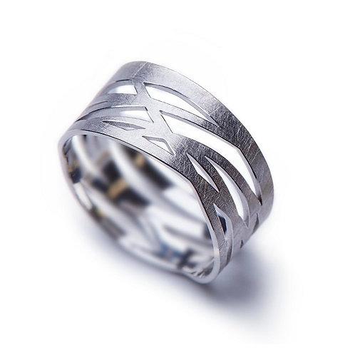 White Gold GRASSES Ring