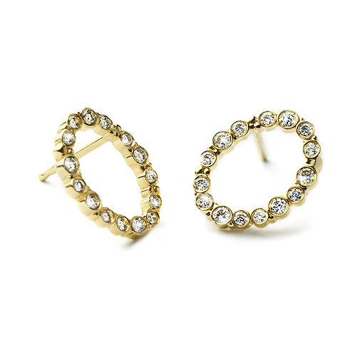 FINEGOLD Earrings with Diamonds