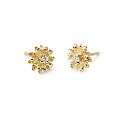 DIAMOND FLOWER Daisy Earrings