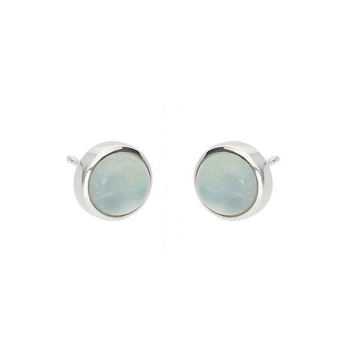 Aquamarine Cabochon Earrings