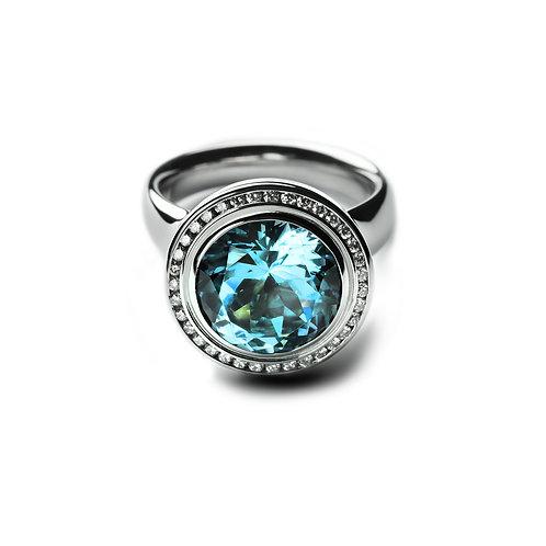 TRESORO Blue Topaz Ring