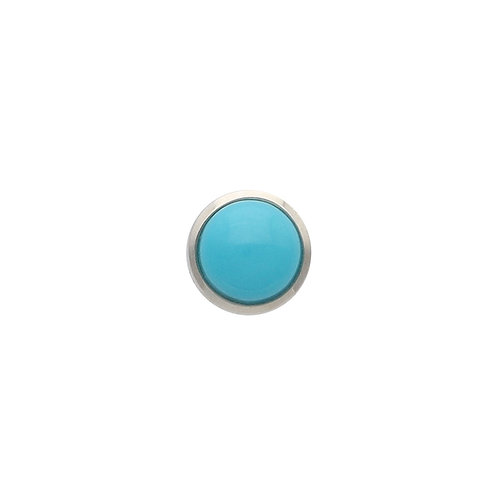 Turquoise Cabochon TOUCHSTONE Cylinder