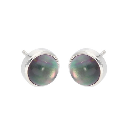Tahiti Mother-of-Pearl and Crystal Cabochon Earrings