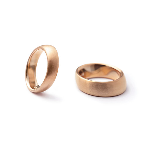 20° Rose Gold Wedding Band