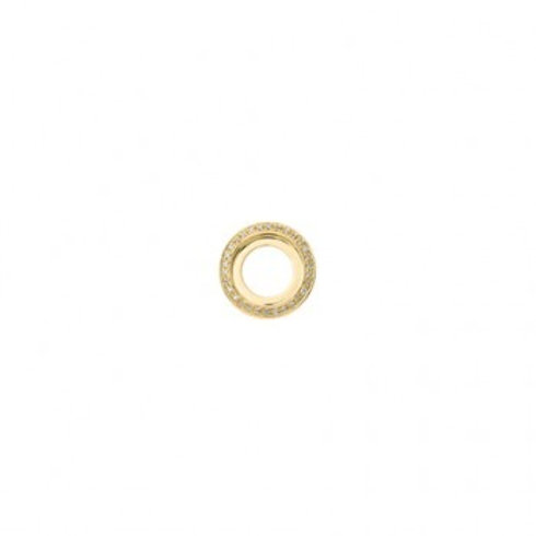 14mm HIGHLIGHTS Gold and Diamond Disc