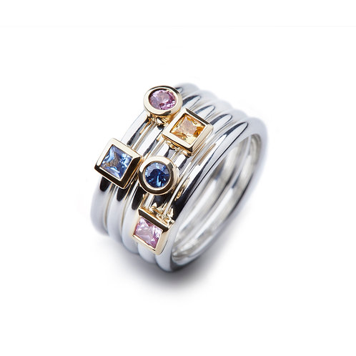 GRAPHIC Princess Cut Sapphire Ring