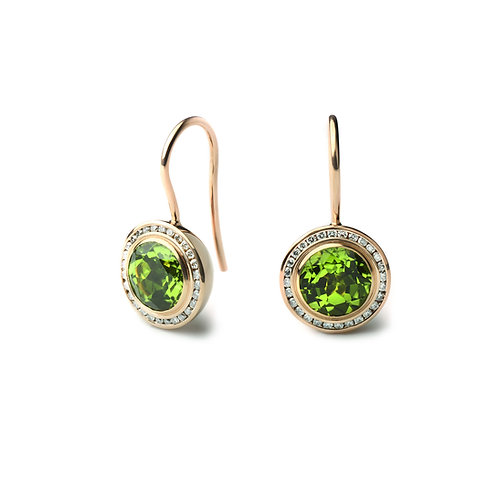 TRESORO Peridot and Diamond Earrings