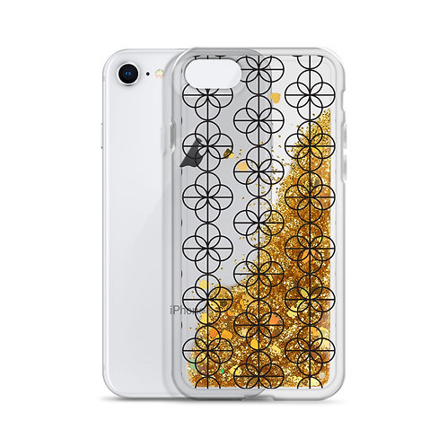 Ehinger Schwarz 1876 Maker's Mark Liquid Glitter iPhone Case
