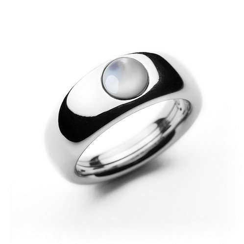 Polished Silver Conical TOUCH Ring